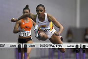 Feb 24, 2017; Seattle, WA, USA; Dior Hall of Southern California wins women's 60m heat in 8.13 during the MPSF Indoor Championships at the Dempsey Indoor.