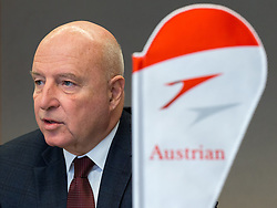 26.02.2018, Innsbruck, AUT, Pressekonferenz Austrian Airlines, im Bild AUA-CEO Kay Kratky // during a Pressconferenz of Austrian Airlines in Innsbruck, Austria on 2018/02/26. EXPA Pictures © 2018, PhotoCredit: EXPA/ Jakob Gruber