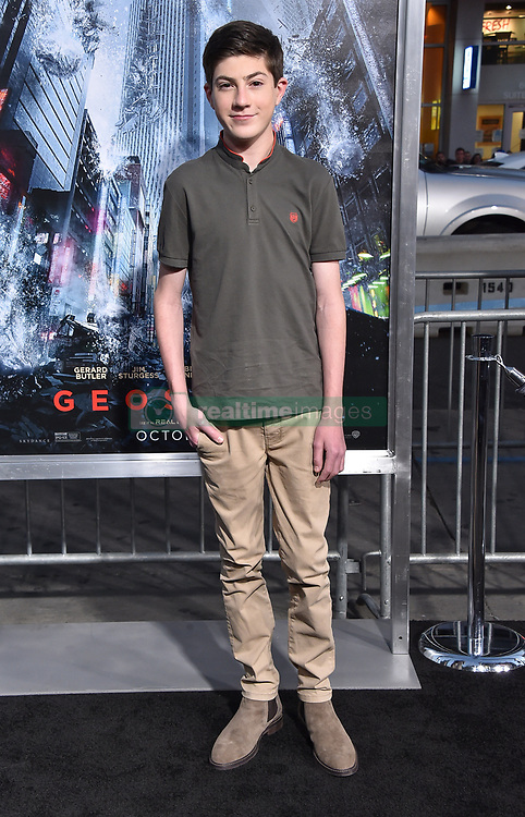 October 17, 2017 - Los Angeles, California, USA - 10/16/17.Mason Cook at the world premiere of ''Geostorm''..(Hollywood, CA) (Credit Image: © Starmax/Newscom via ZUMA Press)