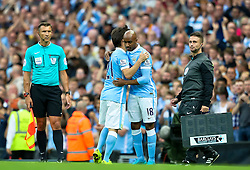 Fabian Delph of Manchester City replaces David Silva  - Mandatory byline: Matt McNulty/JMP - 07966386802 - 29/08/2015 - FOOTBALL - Etihad Stadium -Manchester,England - Manchester City v Watford - Barclays Premier League
