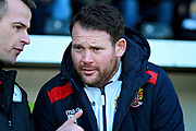 Stevenage manager Darren Sarll before the EFL Sky Bet League 2 match between Notts County and Stevenage at Meadow Lane, Nottingham, England on 24 February 2018. Picture by Nigel Cole.