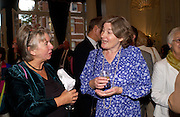 Suzanne Groom and Pam Sebag-Montefiore, Flora Fraser launch party for her book ' Princesses the Daughters of George 111' the Savile club, Brook St. 14 September 2004. SUPPLIED FOR ONE-TIME USE ONLY-DO NOT ARCHIVE. © Copyright Photograph by Dafydd Jones 66 Stockwell Park Rd. London SW9 0DA Tel 020 7733 0108 www.dafjones.com