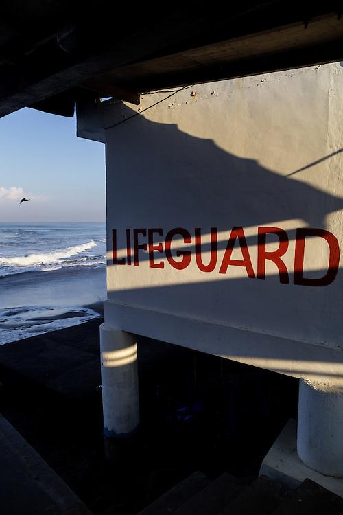 Lifeguard post at Echo beach, Canggu.