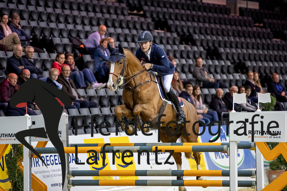 STÜHLMEYER Patrick (GER), For Laubry<br /> Oldenburg - AGRAVIS-Cup 2018<br /> Qualifikation<br /> Youngster Tour für 7 jährige Pferde<br /> 02. November 2018<br /> © www.sportfotos-lafrentz.de/Stefan Lafrentz