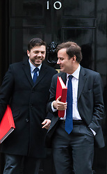 Downing Street, London, November 24th 2015. Chief Secretary to the Treasury Greg Hands (R) and Welsh Secretary Stephen Crabb leave Downing Street following the weekly cabinet meeting. ///FOR LICENCING CONTACT: paul@pauldaveycreative.co.uk TEL:+44 (0) 7966 016 296 or +44 (0) 20 8969 6875. ©2015 Paul R Davey. All rights reserved.