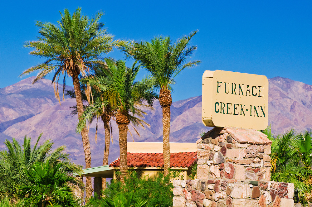 Sign at Furnace Creek Inn, Death Valley National Park. California