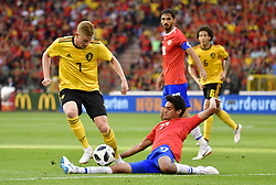 June 11, 2018 - Bruxelles, BEL - BRUSSELS, BELGIUM - JUNE 11 : Kevin De Bruyne forward of Belgium & Yeltsin Tejeda midfielder of Costa Rica  during a FIFA international friendly match between Belgium and Costa Rica as preparation for the 2018 FIFA World Cup Russia at the King Baudouin Stadium on June 11, 2018 in Brussels, Belgium , 11/06/18 (Credit Image: © Panoramic via ZUMA Press)
