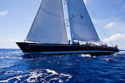 Highland Breeze sailing in the 2010 St. Barth's Bucket superyacht regatta, race 1.
