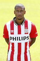 Luciano Narsingh during the team presentation of PSV Eindhoven on July 6, 2015 at the Herdgang in Eindhoven, The Netherlands.
