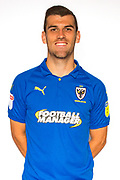 AFC Wimbledon attacker Adam Roscrow (10) during the official team photocall for AFC Wimbledon at the Cherry Red Records Stadium, Kingston, England on 8 August 2019.