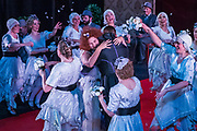 Matinee performance of Ruddigore performed by during the National Gilbert & Sullivan Opera Company in Buxton Opera House Buxton, England on Wednesday 01 August 2018 Photo: Jane Stokes<br /> <br /> DIRECTOR/Vivian Coates<br /> CONDUCTOR/James Hendry<br /> CHOREOGRAPHER/Mary McDonagh<br /> <br /> CAST<br /> SIR RUTHVEN MURGATROYD (Robin Oakapple)/Bradley Travis<br /> RICHARD DAUNTLESS/David Menezes<br /> SIR DESPARD MURGATROYD/Matthew Siveter<br /> OLD ADAM GOODHEART/Stephen Godward<br /> ROSE MAYBUD/Rosanna Harris<br /> MAD MARGARET/Mae Hendorn<br /> DAME HANNAH/Gaynor Keeble<br /> ZORAH/Juliet Montgomery<br /> RUTH/Alexandra Hazard<br /> SIR RODERIC MURGATROYD/Steven Page<br /> <br /> THE CHORUS<br /> Hannah Boxall, Nicole Boardman, Rhiannon Doogan, Joanna Goldspink, Maisy Hepburn, Jennifer Parker, Julie Power, Stephanie Poropat, Eloise Waterhouse, Emma Watkinson<br /> <br /> Tom Blackwell, Andrew Brown, Peter Brooks, Stephen Fawell, Matthew Kellett, Michael Vincent Jones, Henry Smith, Jonathan Stevens, Tim Southgate<br /> <br /> PRODUCTION TEAM<br /> <br /> TOUR MANAGER/Neil Smith<br /> STAGE MANAGER/Sarah Kent<br /> ASSISTANT STAGE MANAGER/Claire Litton<br /> LIGHTING DESIGN/David Marsden<br /> WARDROBE SUPERVISOR/ David Morgan<br /> SET DESIGN/ Tin Shed Scenery<br /> REPETITEUR/Erica Gundesen