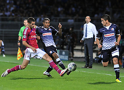 27.09.2011, Stade de Gerland, Lyon, FRA, UEFA CL, Gruppe D, Olympique Lyon (FRA) vs Dinamo Zagreb (CRO), im Bild Jorge Sammir Cruz Campos (10), Maxime Gonalons (21), Luis Ibanez (3) // during the UEFA Champions League game, group D, Olympique Lyon (FRA) vs Dinamo Zagreb (CRO) at de Gerland stadium in Lyon, France on 2011/09/27. EXPA Pictures © 2011, PhotoCredit: EXPA/ nph/ Pixsell +++++ ATTENTION - OUT OF GERMANY/(GER), CROATIA/(CRO), BELGIAN/(BEL) +++++