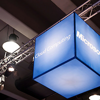 MILAN, ITALY - OCT. 20: Microsoft stand during SMAU, International Exhibition of Information and Communication Technology on October 20, 2010 in Milan, Italy.
