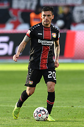 05.05.2019, BayArena, Leverkusen, GER, 1. FBL, Bayer 04 Leverkusen vs Eintracht Frankfurt, 32. Runde, im Bild Charles Aranguiz (Bayer 04 Leverkusen ) // during the German Bundesliga 32th round match between Bayer 04 Leverkusen and Eintracht Frankfurt at the BayArena in Leverkusen, Germany on 2019/05/05. EXPA Pictures © 2019, PhotoCredit: EXPA/ Eibner-Pressefoto/ Thomas Thienel-Pressefot<br /> <br /> *****ATTENTION - OUT of GER*****