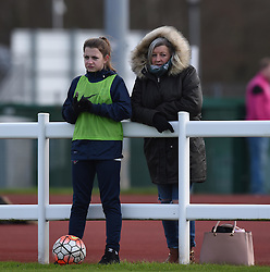 Ball girl at Stoke Gifford Stadium - Mandatory by-line: Paul Knight/JMP - Mobile: 07966 386802 - 14/02/2016 -  FOOTBALL - Stoke Gifford Stadium - Bristol, England -  Bristol Academy Women v QPR Ladies - FA Cup third round