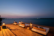 Hotel sundeck lounge, Cartagena de Indias, Colombia, South America