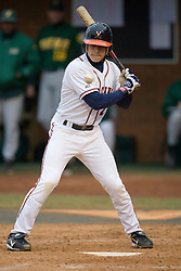 Virginia Cavaliers INF Greg Miclat (2) watches a high pitch cross the plate for a ball.  The #16 ranked Virginia Cavaliers baseball team defeated the Siena Saints 17-2 at the University of Virginia's Davenport Field in Charlottesville, VA on February 29, 2008.