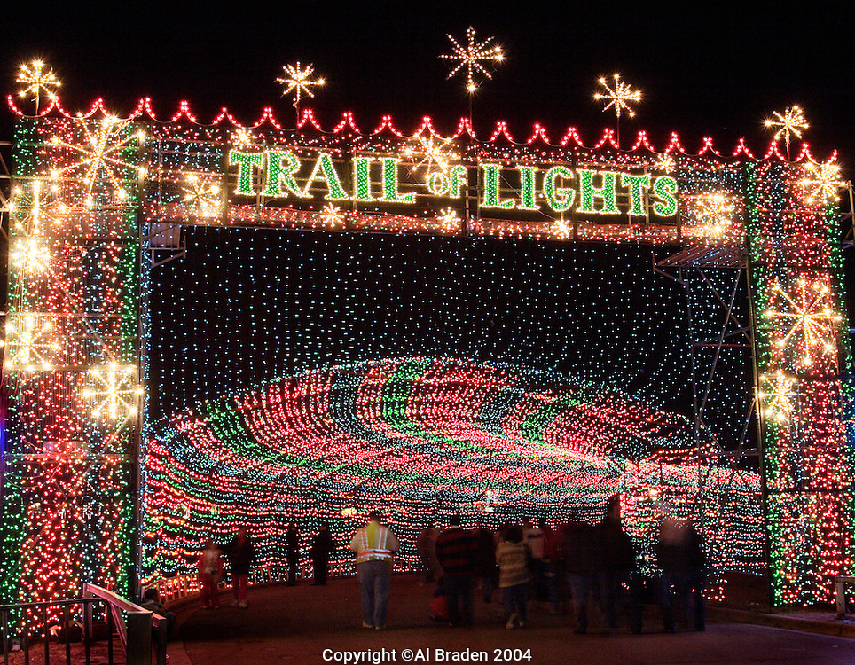 Trail of Lights, Austin, Texas is an annual Christmas event that draws thousands every night of December to Zilker Park.