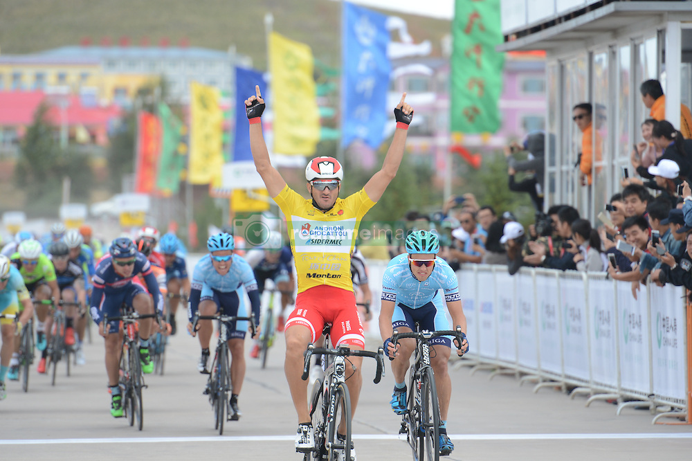 September 10, 2016 - Italian Marco Benfatto from Androni-Giocattoli Team wins the second stage, 157.8 km Weichang-Fengning, of the 2016 Tour of China 1...The second stage of the Tour of China starts in Yudaokou, in Weichang county, located at the far northeastern Hebei province. The area has been historically home to Manchu soldiers. ..The stage finishes in Fengning county, in front of Great Khan palace on north grassland of the country...On Saturday, 10 September 2016, in Fengning, China. (Credit Image: © Artur Widak/NurPhoto via ZUMA Press)