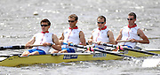 Reading, GREAT BRITIAN, GBR LM4- left james CLARKE, Paul MATTICk, James LINDSAY-FYNN and Richard CHAMBERS, British Olympic Association, BOA, 2008 Beijing Olympic Rowing Team Announcement for 2008 Beijing Olympic Games, CHINA. .Redgrave and  Pinsent Rowing Lake, Caversham Training Centre, on Thursday, 26/06/2008. [Mandatory Credit:  Peter SPURRIER / Intersport Images] Rowing course: GB Rowing Training Complex, Redgrave Pinsent Lake, Caversham, Reading