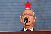 Senate Republican Leader Mitch McConnell (KY) with a red star over his head at the 2012 Republican National Convention
