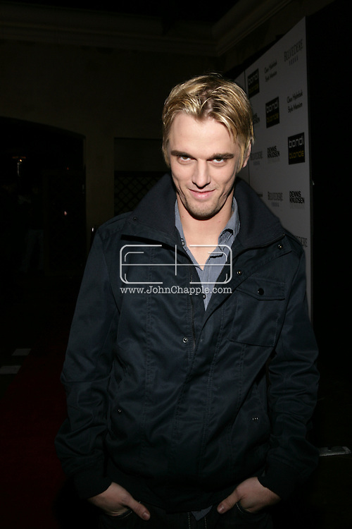 9th February 2009, Beverly Hills, California. Aaron Carter, at Bondi Blonde's Style Mansion International Party, which was hosted by singer Katy Perry. PHOTO © JOHN CHAPPLE / REBEL IMAGES.tel: +1-310-570-910
