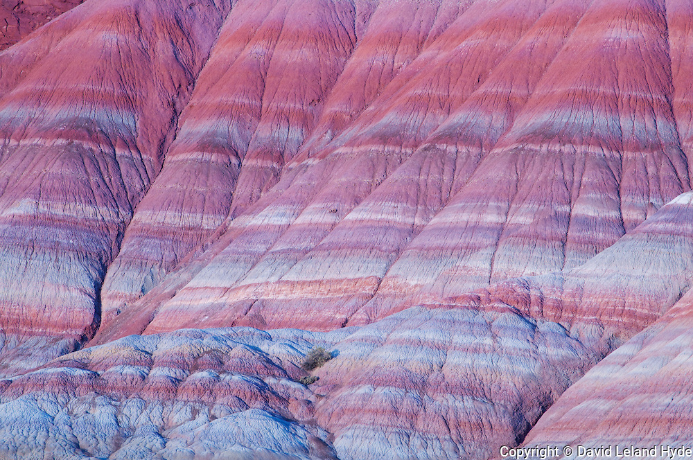 Bentonite Clay Rainbow Rocks Near Old Paria Movie Set, Ghost Towns in Utah, Paria Utah, red clay, white clay, blue clay, pink clay, sage plant, orange clay, sedimentary rocks