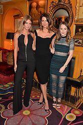 Left to right, MILLIE MACKINTOSH, GABRIELA PEACOCK and ROSIE FORTESCUE at the launch of GP Nutrition held at Annabel's, 44 Berkeley Square, London on 26th January 2016.