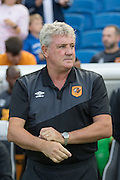 Hull City manager Steve Bruce during the Sky Bet Championship match between Brighton and Hove Albion and Hull City at the American Express Community Stadium, Brighton and Hove, England on 12 September 2015. Photo by Phil Duncan.