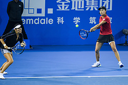 SHENZHEN, Jan. 5, 2019  Peng Shuai (R)Yang Zhaoxuan of China compete during the women's doubles final match against Duan Yingying of China and Renata Voracova of Czech Repoblic at the WTA Shenzhen Open tennis tournament in Shenzhen, south China's Guangdong Province, Jan. 5, 2019. (Credit Image: © Xinhua via ZUMA Wire)