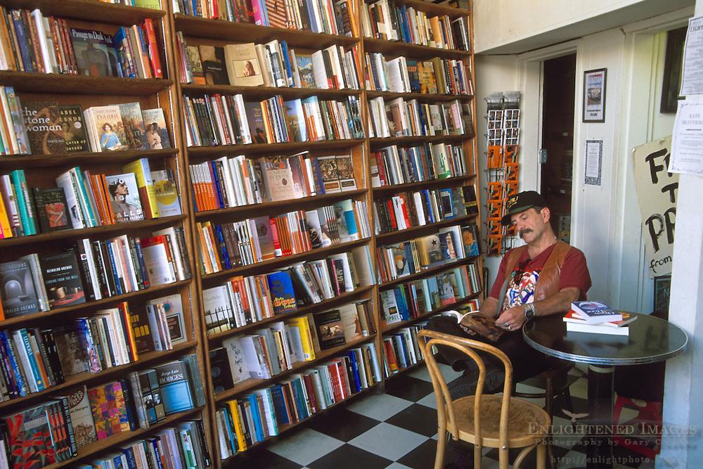 Interior of the famous CityLights Bookstore, North Beach, San Francisco, California