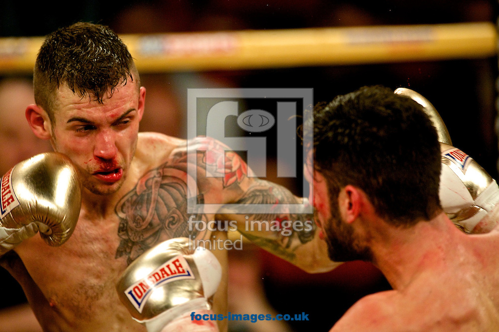 Cello Renda (right)  and Tom Doran (left)  during their Prizefighter: The Middleweights 3 - Final bout at Winter Gardens, Blackpool<br /> Picture by Ian Wadkins/Focus Images Ltd +44 7877 568959<br /> 14/02/2015