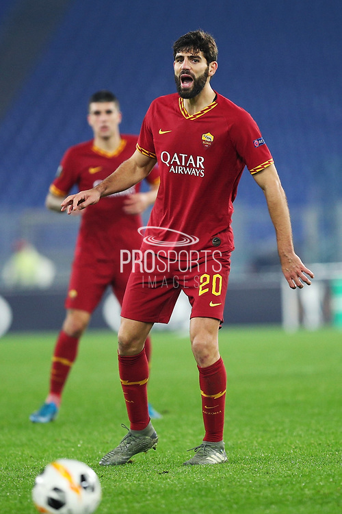 Federico Fazio of Roma reacts during the UEFA Europa League, Group J football match between AS Roma and Wolfsberg AC on December 12, 2019 at Stadio Olimpico in Rome, Italy - Photo Federico Proietti / ProSportsImages / DPPI