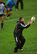 Backs coach Wayne Smith acts as halfback.<br /> All Blacks Training Session at Rugby League Park, Newtown, Wellington. Tuesday 22 July 2008. Photo: Dave Lintott/PHOTOSPORT