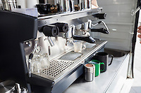 Close-up of coffee machine