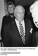 Merv Griffin at Ronald Reagan's 85 birthday. Chasen's, West Hollywood. Los Angeles. 1996. Film. 9642/20<br />