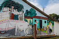 Mural on side of building in Pedasi, Azuero Peninsula, Panama