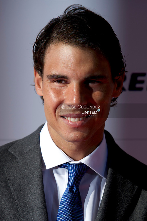 Rafael Nadal arrives at the Marca 75th anniversary at Callao Cinema on November 26, 2013 in Madrid