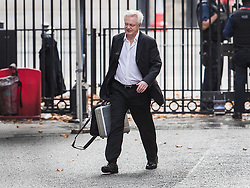 © Licensed to London News Pictures. 11/09/2017. London, UK. David Davis, Secretary of State for Exiting the European Union, arrives in Downing Street ahead of the debate and vote on the European Union Repeal bill in Parliament. Photo credit: Peter Macdiarmid/LNP