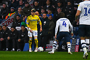 Ezgjan Alioski of Leeds United (10) in action during the EFL Sky Bet Championship match between Preston North End and Leeds United at Deepdale, Preston, England on 9 April 2019.