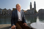 Soccer expert Erich VOGEL of Switzerland poses at the Limmat riverbank in Zurich, Switzerland, Wednesday, Sept. 28, 2011. In the background can be seen the Grossmuenster (great minster) a Romanesque-style church on Limmatquai. (Photo by Patrick B. Kraemer / MAGICPBK)