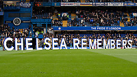 Football - 2019 / 2020 Premier League - Chelsea vs. Crystal Palace<br /> <br /> Chelsea pay their respects to the fallen before kick off on remembrance weekend at Stamford Bridge <br /> <br /> COLORSPORT/DANIEL BEARHAM