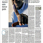 "Tearsheet of ""Sudao: A sul, nasce um novo pais"" published in Expresso"
