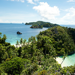 Beautiful view around the beaches of some islands in Misool are, West-Papua.