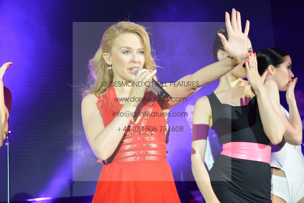 KYLIE MINOGUE at the Caudwell Children's annual Butterfly Ball held at The Grosvenor House Hotel, Park Lane, London on 15th May 2014.