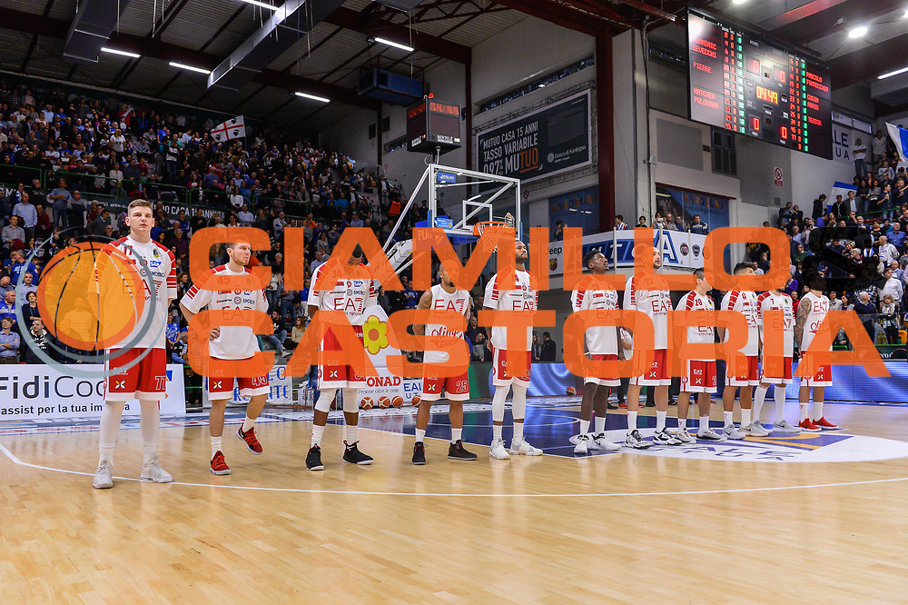 Team Olimpia EA7 Emportio Armani Milano<br /> Banco di Sardegna Dinamo Sassari - Olimpia EA7 Emportio Armani Milano<br /> LegaBasket LBA Poste Mobile 2017/2018<br /> Sassari, 29/10/2017<br /> Foto L.Canu / Ciamillo-Castoria