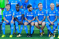 Getafe CF's Francisco Portillo, Amath Ndiaye, Dani Pacheco, Alvaro Jimenez and Vitorino Antunes during the session of the official photo of the first team squad for the 2017/2018 season. September 19,2017. (ALTERPHOTOS/Acero)