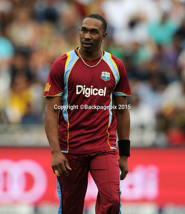Dwayne Bravo of West Indies during the 2015 KFC T20 International Series match between South Africa and West Indies at Wanderers, Johannesburg on the 11 January 2015  ©Muzi Ntombela/BackpagePix