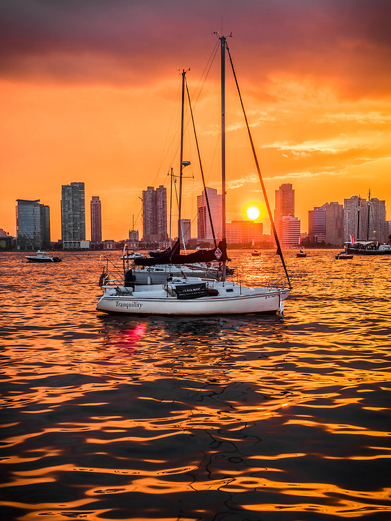 Midtown Manhattan Harbor Sunset, NYC