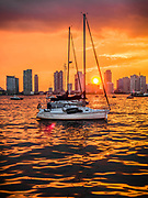 Midtown Manhattan Harbor Sunset, NYC